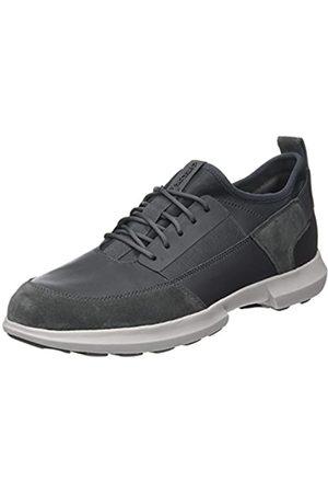 Geox Men's U Traccia A Low-Top Sneakers, (Dk )