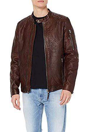 JACK /& JONES Jjeliam Leather Jacket Noos Giacca Uomo