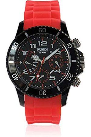 Munich Unisex Adult Analogue Quartz Watch with Silicone Strap MU+119.4A