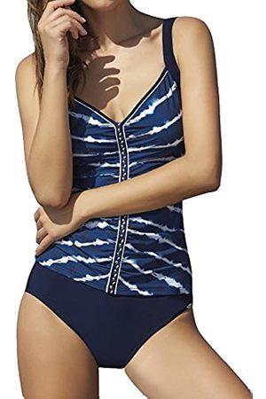 Sunflair Women's Tankini Sexy Batik (Nachtblau)