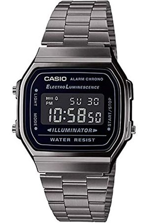 Casio Mens Digital Japanese Quartz Watch with Stainless Steel Strap A168WEGG-1BEF