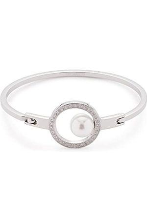 Leonardo JEWELS BY LEONARDO women bangle Orbita stainless steel/silver colored imitation pearl zirconia white 6