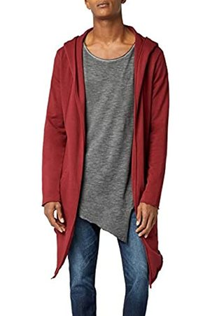 Urban Classics Men's Hooded Edge Long Frayed Sleeve Sweatshirt with Hoodie, Open Front Cardigan