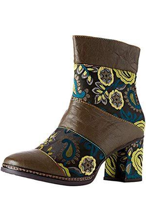 LAURA VITA Women's Elcianeo 02 Ankle Boots, (Kaki Kaki)