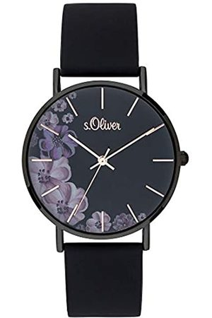 s.Oliver Womens Analogue Quartz Watch with Silicone Strap SO-3708-PQ