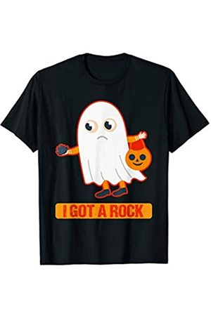 BUBL TEES I Got A Rock Funny Ghost Trick Or Treat T-Shirt