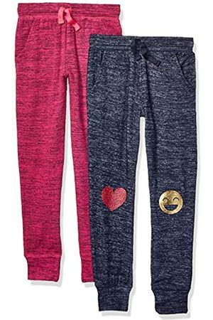 Spotted Zebra Girls Trousers - 2-Pack Cozy Knit Joggers Pants, Emojis/