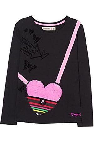 Desigual Girl's Ts_calella T-Shirt, (Negro 2000)