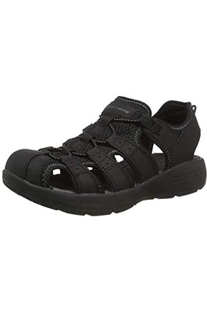 Skechers Men's MELBO Journeyman 2 Closed Toe Sandals, ( Leather/Mesh/Trim BBK)