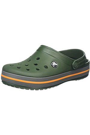 Crocs Unisex-Adult's Crocband Clogs, (Forest /Slate )