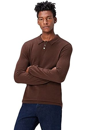 FIND Men's Polo Shirt with Merino Wool and Half Collar