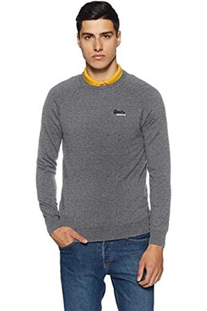 Superdry Men's Orange Label Cotton Crew Sports Jumper