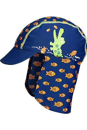 Playshoes Boy's UV Sun Protection Swim Cap, Sun Hat Crocodile, (Navy)