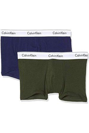 Calvin Klein Men's 2pk Swim Trunks, (Duffel Bag/ Night MXD)