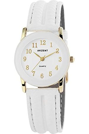 Akzent Womens Analogue Quartz Watch with Leather Strap SS7302000023