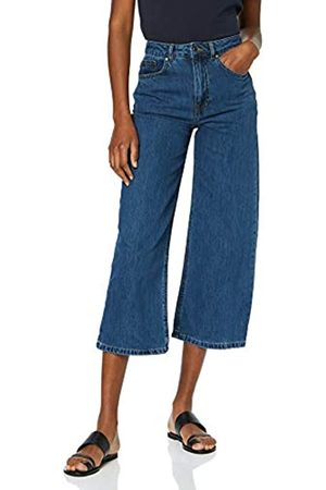 Warehouse Women's Wide Cut Cropped Straight Jeans