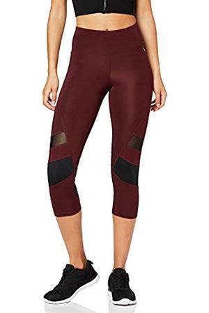 AURIQUE Amazon Brand - Women's Capri Panelled Sports Leggings, 8