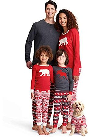 Hatley Little Blue House by TSUWIMO223 Men's Pajama Top, (M Long Sleeve Waffle Henley Pyjama Tee - Charcoal Moose 020)