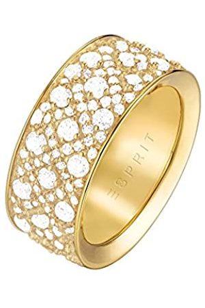 Esprit Ladies Ring Megara Brass Rhodium Plated Zirconia White Round Gr. 57 (18.1) - ESRG02347B180