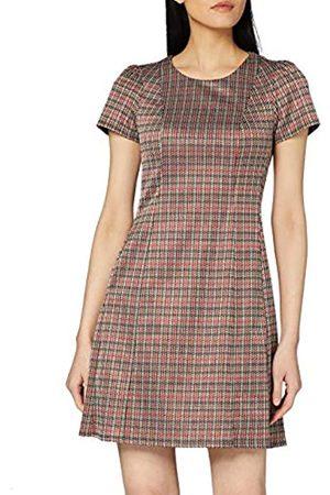 Dorothy Perkins Women's Burgundy Tweed Check Shift Dress