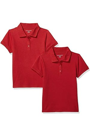 john lewis 2 pack school polo shirts red short sleeve age 8