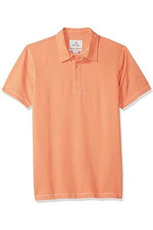 28 Palms Relaxed-Fit Hawaiian Performance Pique Polo Shirt Coral Solid