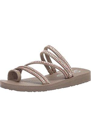 Skechers Women's Meditation-Glam Flash Open Toe Sandals, (Taupe TPE)