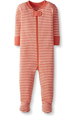 Moon and Back by Hanna Andersson Moon and Back One Piece Footed Pajama Sleepers, Coral