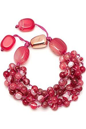 Lola Rose Women's Base Metal Darling Magenta Agate Bracelet of Length 20 cm