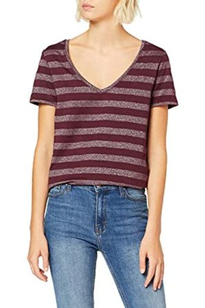 ONLY Women's Onlalexa S/s V-Neck Top JRS T-Shirt