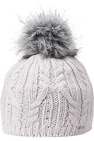 Giesswein Beanie Wolkenburg Marble ONE - Knit hat with Merino Wool, Glittering Swarovski Crystals, Pompon Made of Faux Fur, Fleece Lining