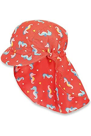 Sterntaler Girls Peaked Cap for Girls with Neck Protection, Age: 12-18 Months, Size: 49 cm