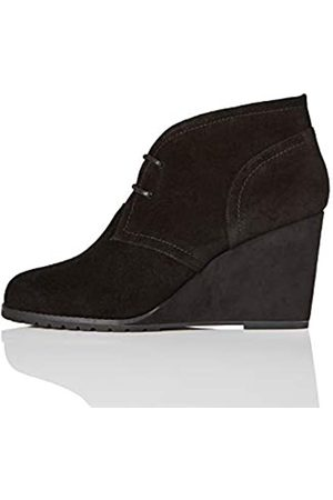 FIND Lace Up Wedge Bootie Ankle Boots, )