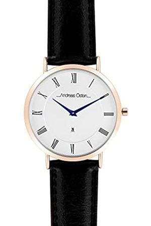 Andreas Osten Unisex Adult Analogue Quartz Watch with Leather Strap AO-80
