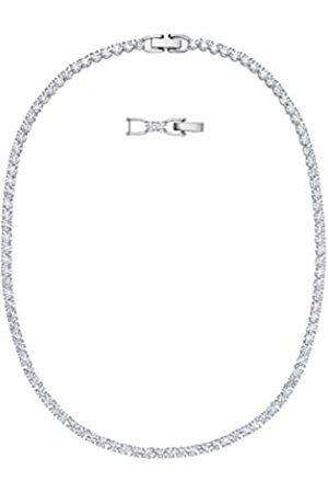 Swarovski Women's Rhodium Plated Crystal Tennis Deluxe Necklace 5494605