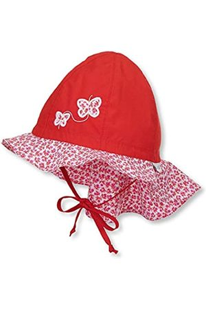 Sterntaler Girls Sun Hat with Ties, Neck Protection and Flower Motif, Age: 2-4 years, Size: 53
