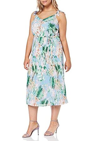 Dorothy Perkins Women's Pleated MIDI Dress Tropical with Built UP Straps Party