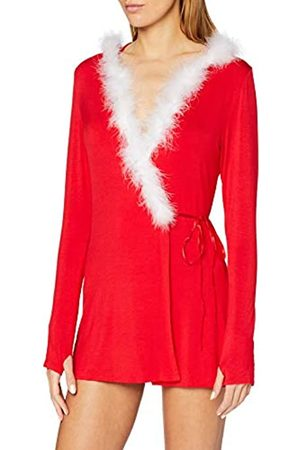 Dreamgirl Women's Jersey Santa-Themed Robe Dressing Gown