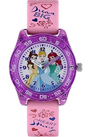 Disney Girls Analogue Classic Quartz Watch with Rubber Strap PN9014