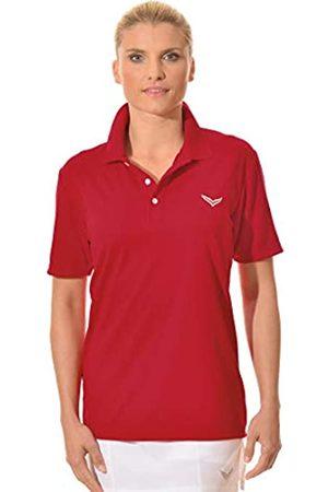 Trigema Women's Damen Polo-Shirt Coolmax, -Rot (Kirsch 036)
