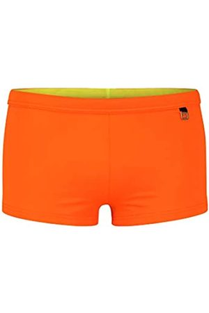 Hom Men's - Swim Shorts 'Sunlight Swim Shorts in Trendy Colours - Mandarine - M