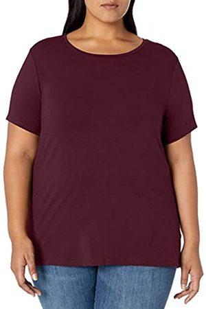 Amazon Plus Size Short-sleeve Crewneck T-shirt Burgundy