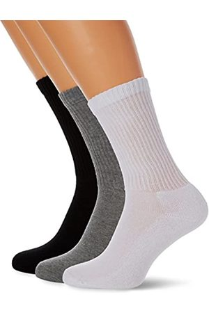 Fruit Of The Loom Unisex Adults Crew Socks Pack of 3, Multicolored (Heather / / )