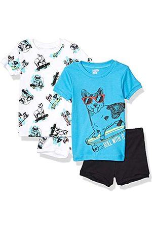 Spotted Zebra 4-piece Snug-fit Cotton Pajama Short Set Skate Dogs, 4T