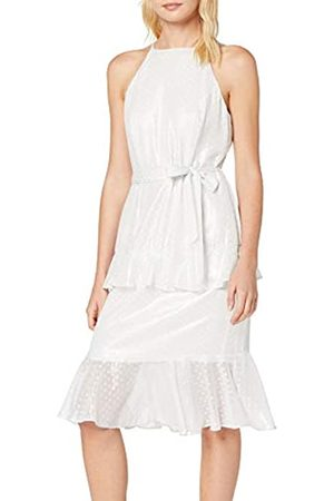 Dorothy Perkins Women's Dobby Spot Tiered Halter Dress Party