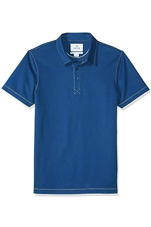28 Palms Standard-Fit Hawaiian Performance Pique Polo Shirt Ocean Solid