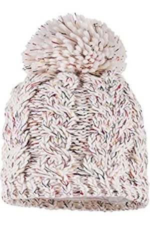 maximo Girl's Beanie mit Pompon, Zopfmuster Hat
