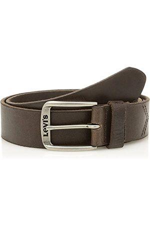 LEVIS FOOTWEAR AND ACCESSORIES Levi's Men's Classic Top Logo Buckle Belt, (Dark )