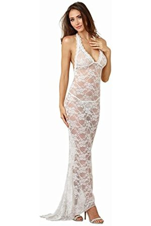Dreamgirl Women's Lace Bridal Gown with Back Train Negligee