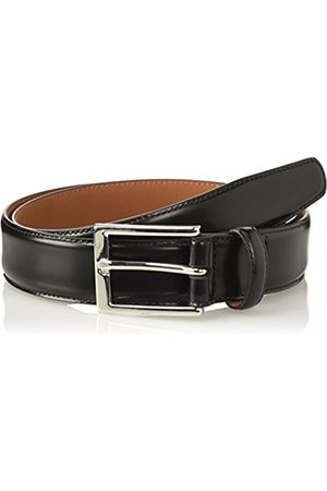 Brooks Brothers Men's Cintura In Pelle Fibia Argento Belt